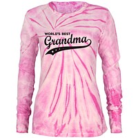 Mother's Day World's Best Grandma Juniors Long Sleeve Thermal Shirt