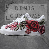Nike Air Force 1 Low with Rose Floral Embroidered