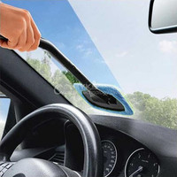 Car Wash Brush Microfiber Auto Window Cleaner Long Handle Dust Car Care Windshield Shine Towel Handy Washable Car Cleaning Tool