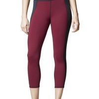 Michi Stardust Cropped Legging- Shiraz Red | High End Women's Leggings