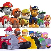 Paw patrol dog patrol car Vehicles Toys Figurine Car Plastic Toy Combination set Action Figure model  patrulla canina toys