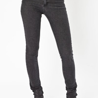 Cheap Monday Stone Wash Second Skin High-waisted Jeans