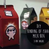 3 Digital Milk Box Gift DIY -  Binding of Isaac