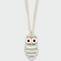 Full Tilt Owl Charm Necklace Mint One Size For Women 17036752301
