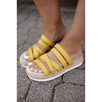 Very G Lindy Sandals (Yellow) FINAL SALE