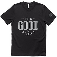 The Good Fight Tee - Black/Gray