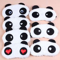 New Cute Cartoon Panda Winter warm Plush Warm Personality Protective Face Masks Universal Masks Goggles Random pattern
