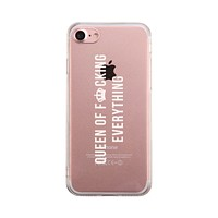 Queen Of Everything Phone Case Cute Clear Phonecase