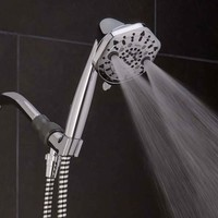 Pressure Boosting 7 Spray Settings Shower Head @ Sharper Image