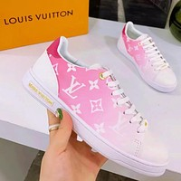 Louis Vuitton Shoes LV Falt Gradient sneakers White pink