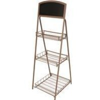 Panacea Products - Rustic Plant Stand With Chalkboard