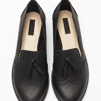 Faux Leather Tasseled Loafers