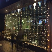 220V 110V 3M x 3M 300 LED Fairy String Curtains Light Window Icicle Lights Ideal for Indoor Home Christmas Party Wedding