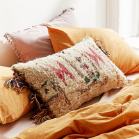 Embellished Boucherouite Fringe Pillow | Urban Outfitters