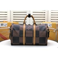 LV Louis Vuitton X NIGO MONOGRAM CANVAS KEEPALL 50 HANDBAG TRAVEL BAG