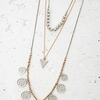 Coin Pendant Necklace Set