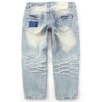 SIMPLE - Women's ripped three-quarter long loose Jeans a13645