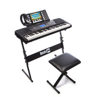 Electronic 61 Key Digital Piano Keyboard Kit with Stand, Stool, Headphones