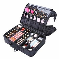 High Quality Professional Makeup Organizer Cosmetic Travel Case/ Large Capacity Storage Bag Suitcase