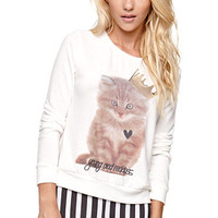 Young and Reckless Queen Purr Crew Fleece at PacSun.com