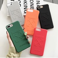 Off White Fashion New Letter Hook Print Women Men Phone Case Protective Cover
