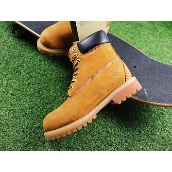 Timberland Wool Waterproof Soft Toe Boots Wheat/Black Color