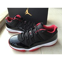 "Air Jordan 11 Low ""Bred""Basketball Shoes 36-47"