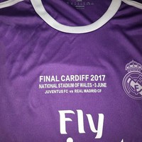 2017 Champions League Finals Soccer Jersey 16/17 Real Madrid away Purple Soccer Jerseys for 3 Jun Ronaldo Football uniform