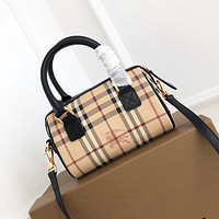 Burberry Women Leather Shoulder Bags Satchel Tote Bag Handbag Shopping Leather Tote