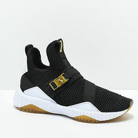 PUMA Defy Varsity Mid Black & Gold Shoes | Zumiez