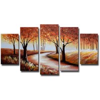 Wandering Through the Forest Landscape Canvas Wall Art Oil Painting