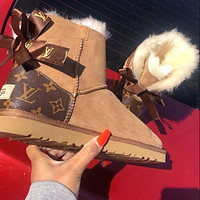 UGG x LV Bow Boot Snow Boots Shoes
