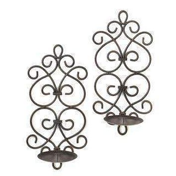 Candle Sconces Scrollwork Wall Sconces