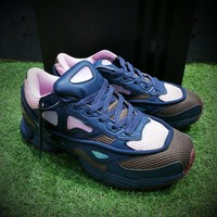 Best Online Sale Raf Simons x Adidas Consortium Ozweego 2 III Retro Sport Smart Running Shoes Night Marine Trainers Shoes D66402
