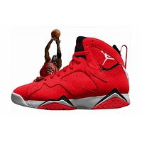 "AIR JORDAN 7 ""UNIVERSITY RED"" INSPIRED BY MJ'S FADEAWAY"