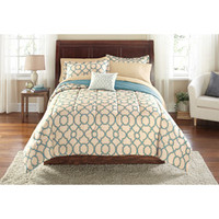 Walmart: Mainstays Bed-in-a-Bag Fretwork