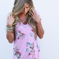 May Flowers Criss Cross Top