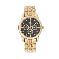 FOREVER 21 Chronograph Analog Watch Gold/Black One