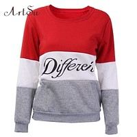Women Multi color Printed Letters sweatshirt