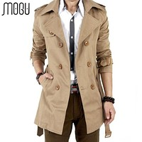 Men Double Breasted Outerwear Casual Coat / Jacket / Men Trench Coat