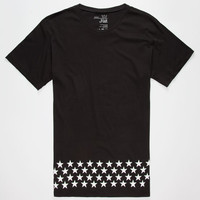 Blue Crown Cash Mens Tall Tee Black  In Sizes