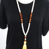 Large Tassel Necklace - Yellow