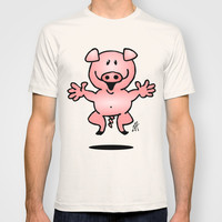 Cheerful little pig T-shirt by Cardvibes