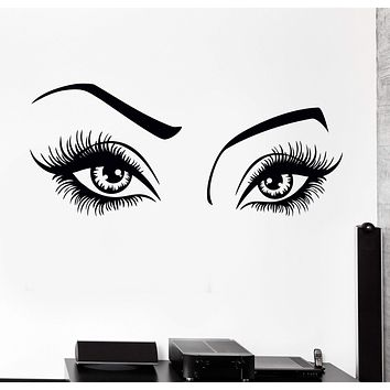 Wall Vinyl Decal Sexy Girl Eyes Beauty Hair Salon Decor Unique Gift z3820