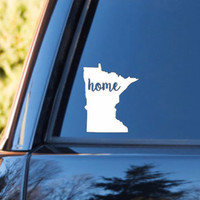Minnesota Home Decal | Minnesota State Decal | Homestate Decals | Love Sticker | Love Decal  | Car Decal | Car Stickers | 115