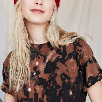 Urban Renewal Remade Destroyed Bleached Short-Sleeved Tee - Urban Outfitters