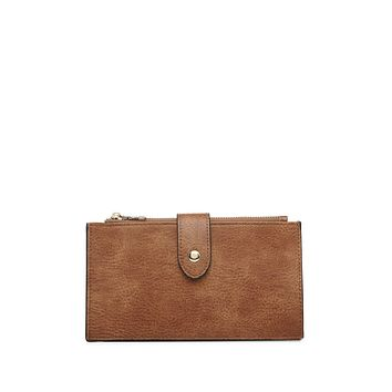 Dual Compartment Wallet in Brown