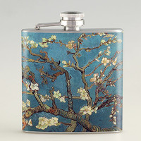 Van Gogh Blossoming Almond Tree Liquor Hip Flask Stainless Steel 6 oz (FK-0387)