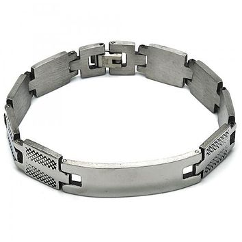 Stainless Steel 03.114.0299.08 ID Bracelet, Polished Finish, Steel Tone
