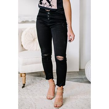 Looking For Stars High Rise Black Skinny Jeans